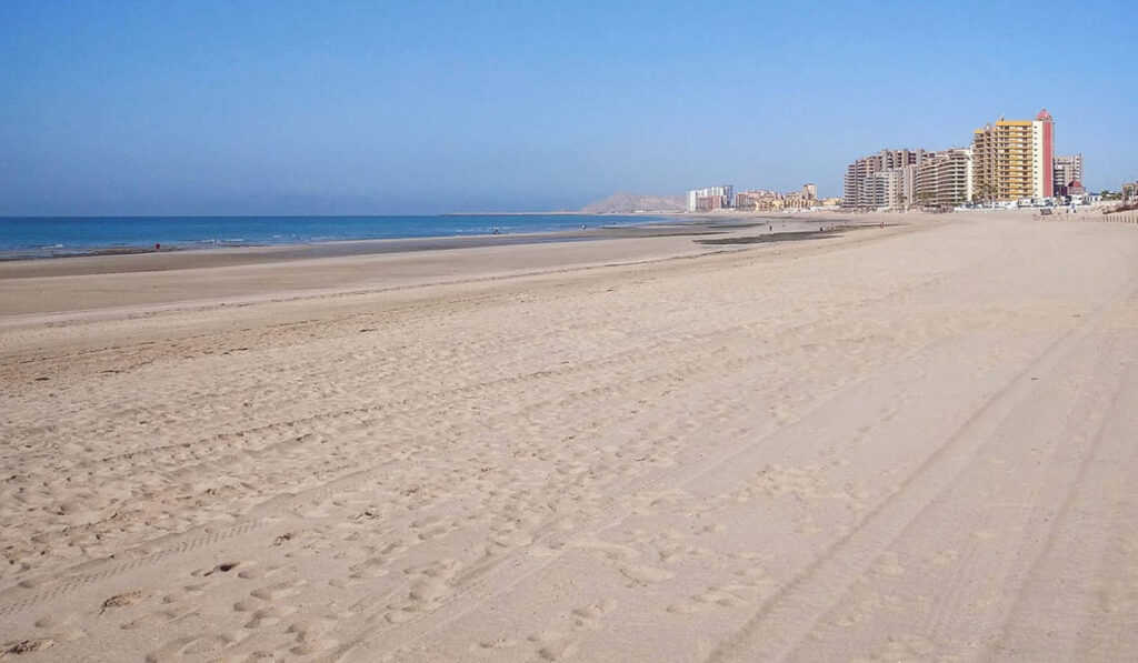 Sandy Beach in Puerto Peñasco (Rocky Point), Mexico